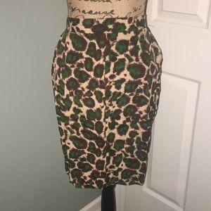 Karen Kane leopard print skirt